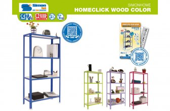 Simonrack: estantería Homeclick Wood Color con melamina blanca